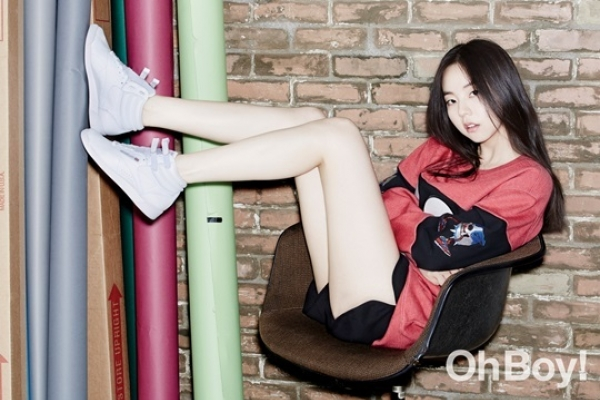 Singer-turned-actress Sohee in chic photo shoot