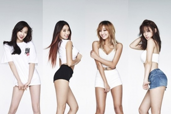 Sistar's B-Cut editorial for 'Touch My Body'
