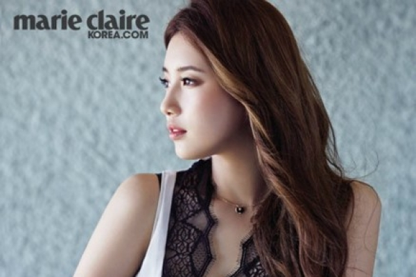 Suzy shows her mature side in Marie Claire