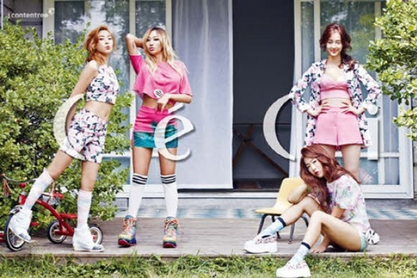 Bubbly girls of Sistar pose in photo shoot