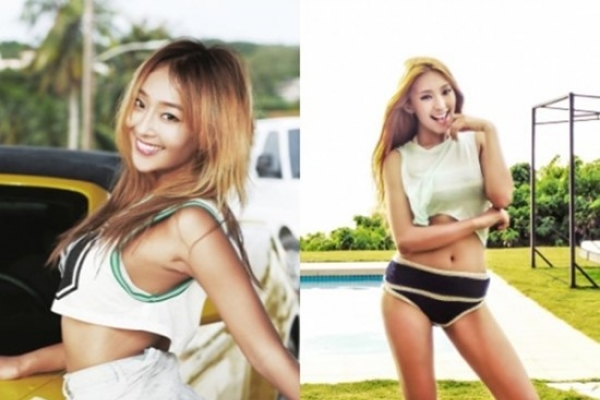 Sistar members Bora and Hyolyn's Saipan pictures