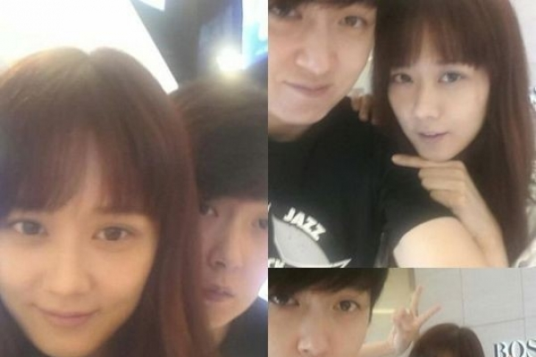 Jang Na-ra pictured with brother