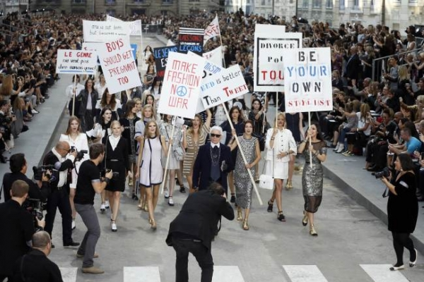 Chanel creates Paris street in star-filled show