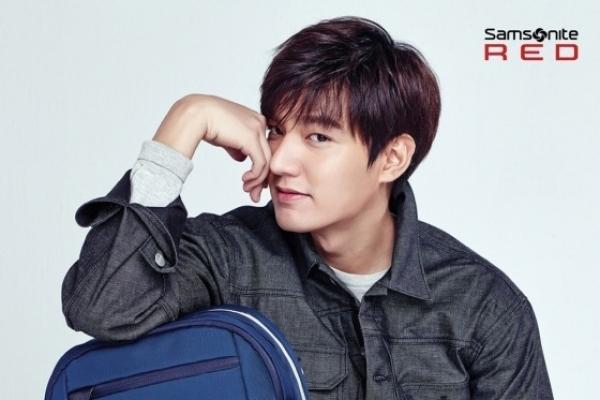 Lee Minho models for Samsonite Red