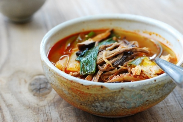 Yukgaejang (spicy beef soup with vegetables)