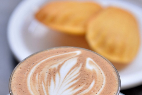 Cortados and madeleines at Coffeed