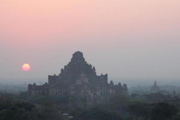 Pagodas in the mist
