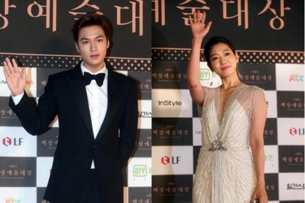 Lee Min-ho, Park Shin-hye win Paeksang awards