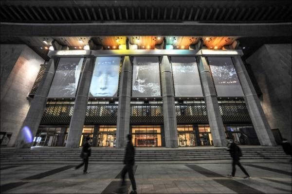 Media art lights up cold, bleak city