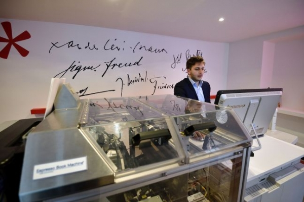 Famed publisher opens Paris' first on-demand only bookshop