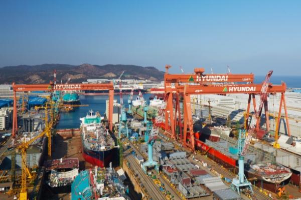 Hyundai Heavy Group leads top 10 market cap list rising over 57%