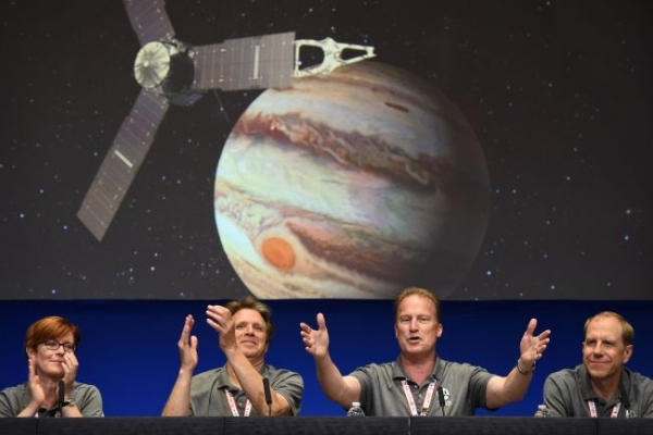 NASA's Juno spacecraft orbits Jupiter, 'king of solar system'
