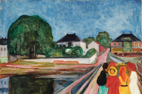 Munch's 'Girls on the Bridge' fetches $54.5m at auction