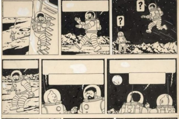 Tintin drawing sells for record 1.55 mn euros in Paris