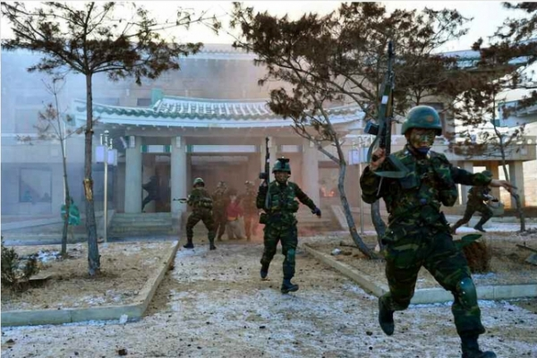 North Korea military drill targets Cheong Wa Dae