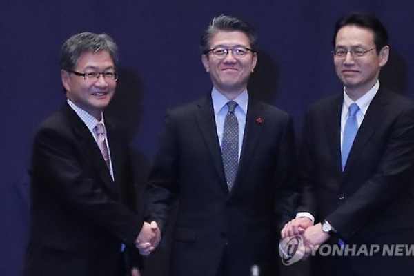 Korea, US, Japan hold talks to discuss cooperation against NK nukes