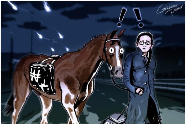 [Cartoon] Heir in the headlights