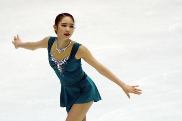 Figure skater Choi Da-bin wins women's short program