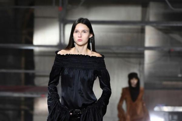 Saint Laurent designer gives bold, VIP-filled sophomore show