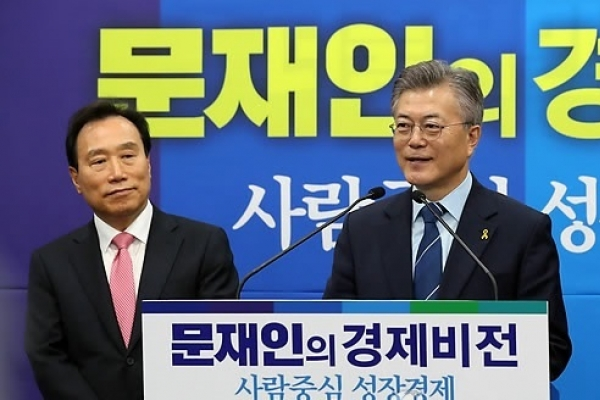 Moon vows to expand fiscal spending for new jobs, welfare