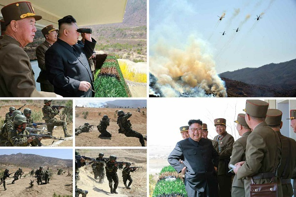 NK leader observes special military forces' target-striking contest