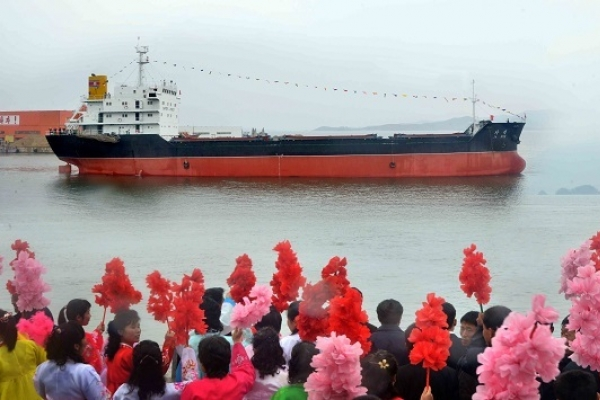 N. Korea's trade cargo ship sets sail amid UN sanctions