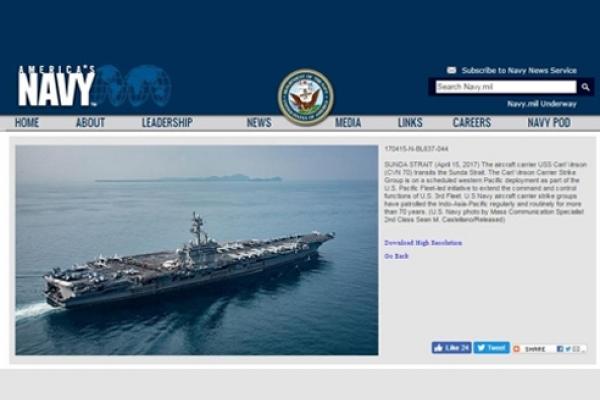 Carl Vinson strike group isn't heading directly to Korea: reports