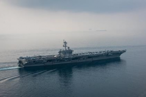 US aircraft carrier expected to reach Korean waters in late April: source