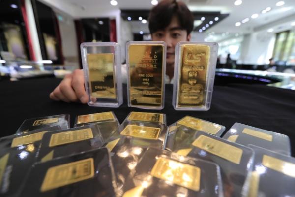 [Photo News] Gold closed at W46,220 per gram Monday