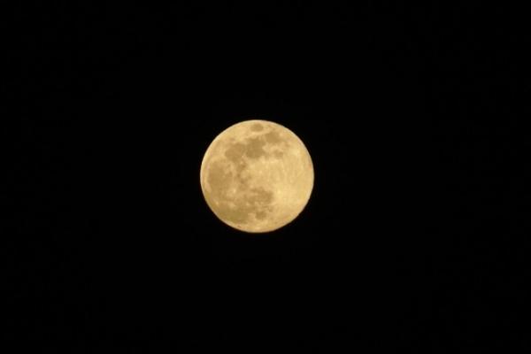 [Photo News] Full moon welcomes new president