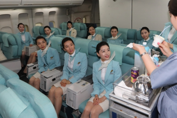 [Photo News] Korean Air trains flight attendants back from maternity leave