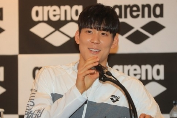 Park Tae-hwan picks up 2nd victory in world championships tune-up