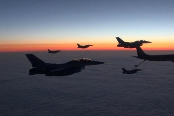 Six KF-16 jets returning home after Alaska drills