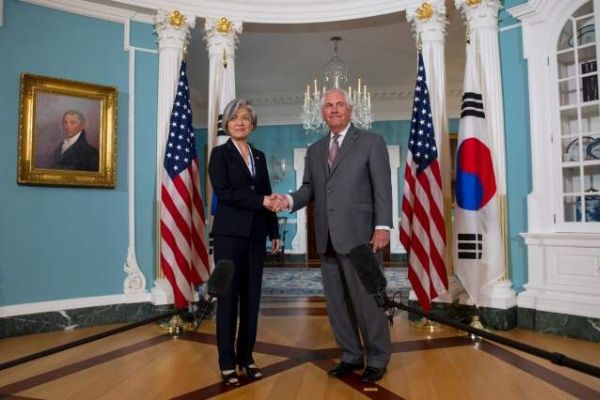 Tillerson: US, S. Korea on same page on reining in N. Korea