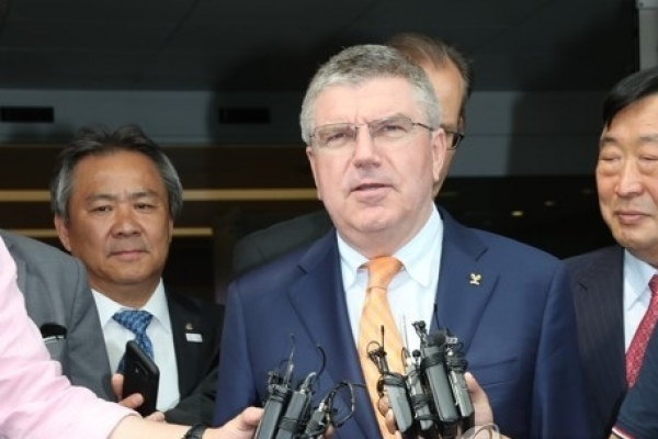 IOC President Bach says joint Korean team at PyeongChang 'in spirit of Olympism'