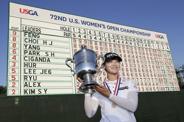 Korean champion credits caddie in 1st LPGA major victory