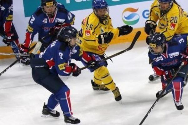 Korea falls to Sweden in women's hockey friendly