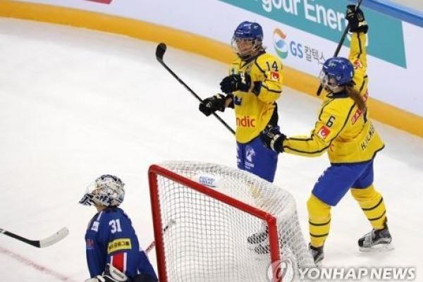Korea suffers 2nd straight loss to Sweden in women's hockey friendly