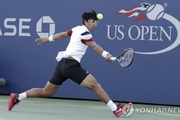 Korean tennis player Chung Hyeon eliminated in 2nd round at US Open