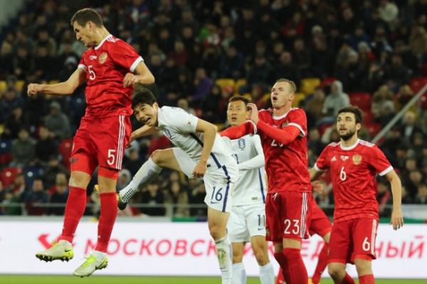 Korea falls to Russia 4-2 in men's football friendly