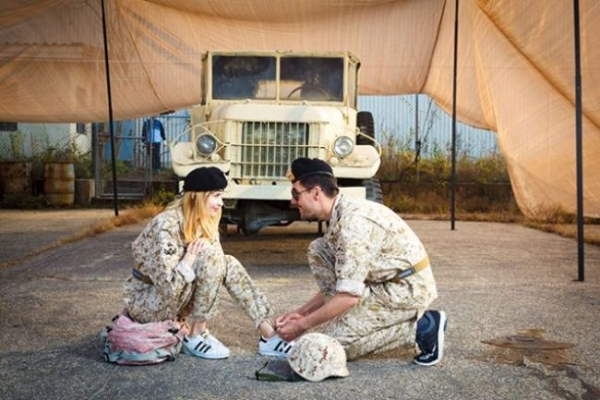 Fans of 'Descendants of the Sun' camp at ex-military base