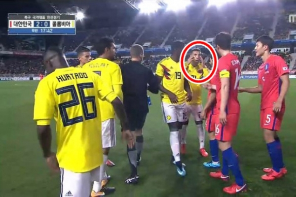 KFA to seek disciplinary action against Colombian player for making racist gesture