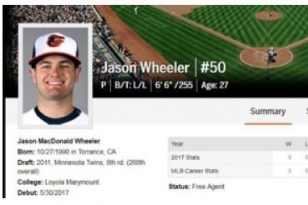Baseball club acquires new American pitcher