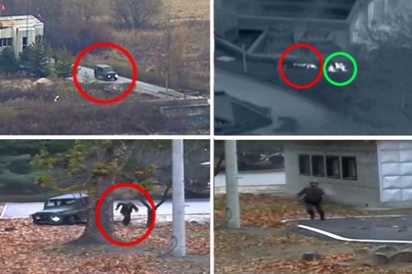 Video shows NK soldier making 50-meter dash for freedom