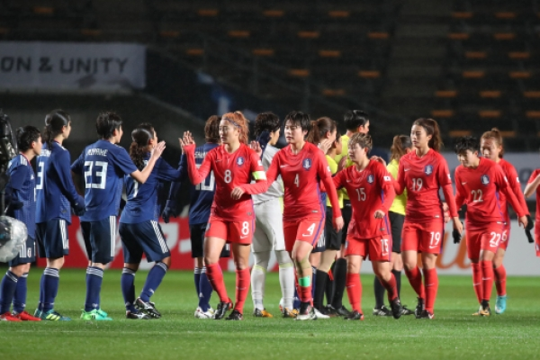 S. Korean women lose 3-2 to Japan in regional football tournament opener