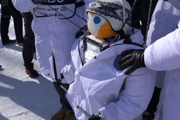 [Video] Humanoid robots compete for gold in alpine skiing on sidelines of PyeongChang Olympics