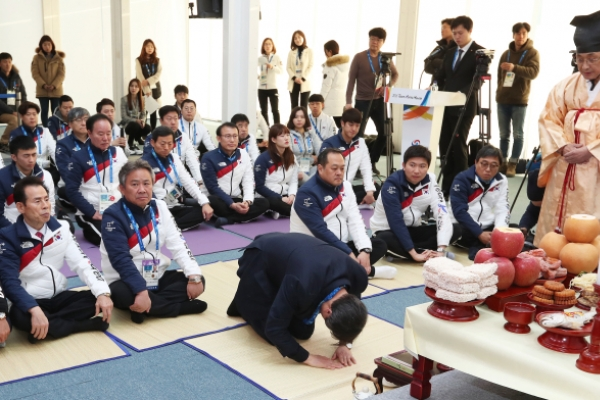[PyeongChang 2018] Korean Olympic athletes mark Lunar New Year with joint traditional ceremony