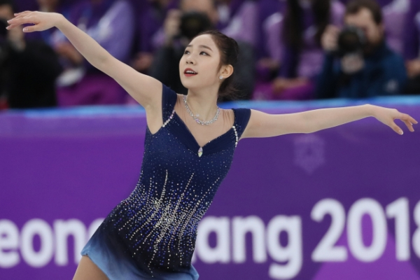 [Photo News] Korean figure skaters Choi Da-bin, Kim Ha-nul at PyeongChang