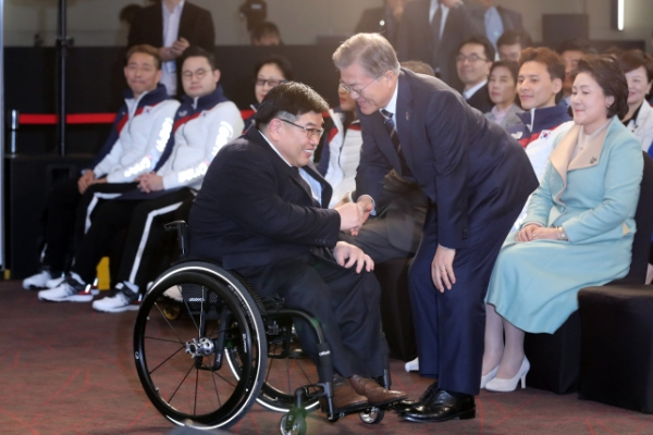 [PyeongChang 2018] Moon vows full support for Paralympics, people with disabilities