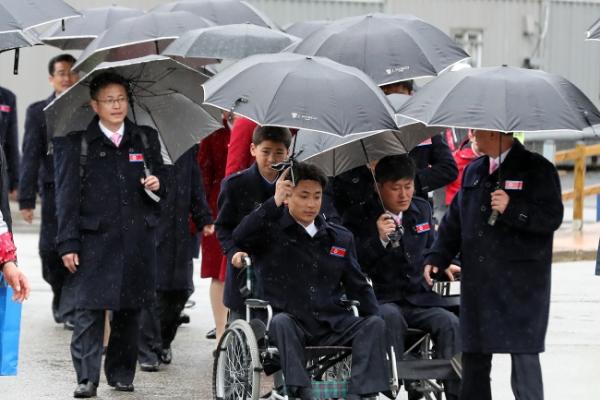 [PyeongChang 2018] N. Korean Paralympic delegation leaves PyeongChang to return home